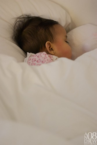 Got this shot when Eleesha was sleeping on her sisters\' bed.