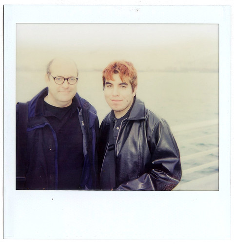 Allan Sekula and I at the Port of Los Angeles