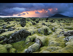 Lava Fields on Fire