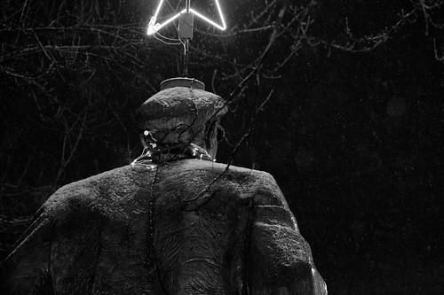 Sad Lenin in Snow