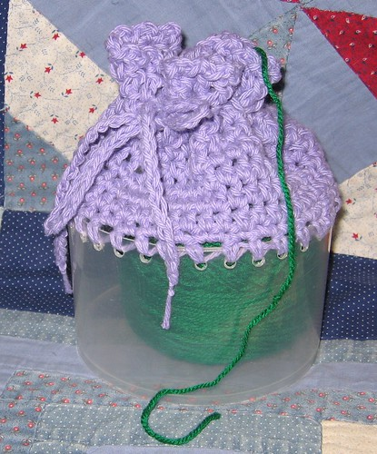 Yarn Ball Cozy from a CD Canister