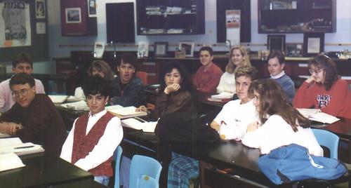 1991ish - Clint - Wooodbridge High - Mr. Linz's physics class - Clint makes a funny face
