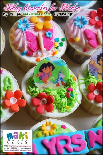 Bday Cupcakes for Nadya - Dora - Maki Cakes