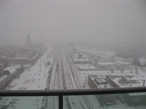 Toronto under the snow storm
