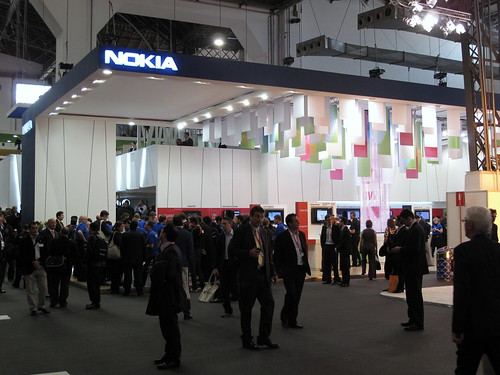 Nokia booth at MWC 2009 Barcelona