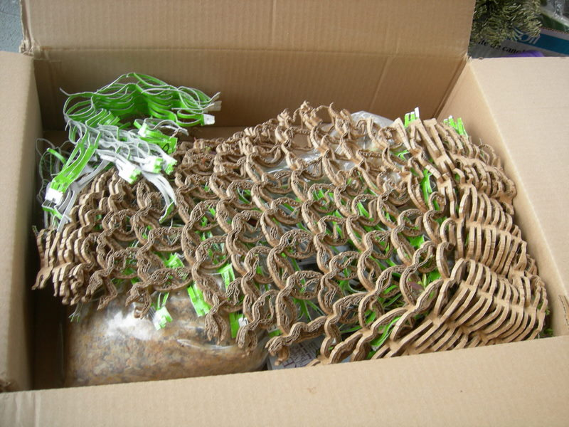 Cool recycled cardboard packing material