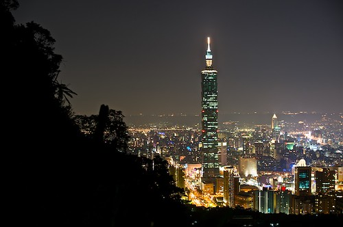 The Fours Beasts Mountains have many fantastic views of Taipei 101 and Taipei City.