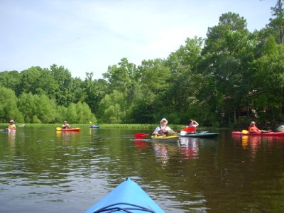 The paddling group
