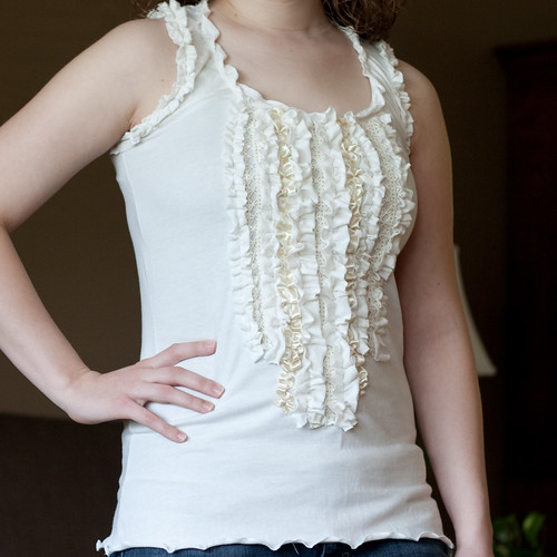 Girly Ruffled Tank by Kate