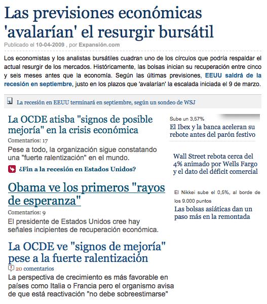 Recortes de portadas de tres diarios nacionales