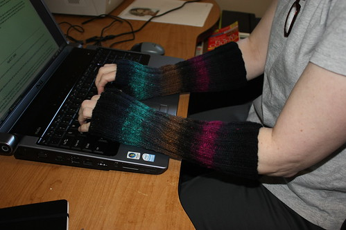 Noro Cashmere Island arm warmers
