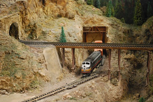 Train coming from tunnel