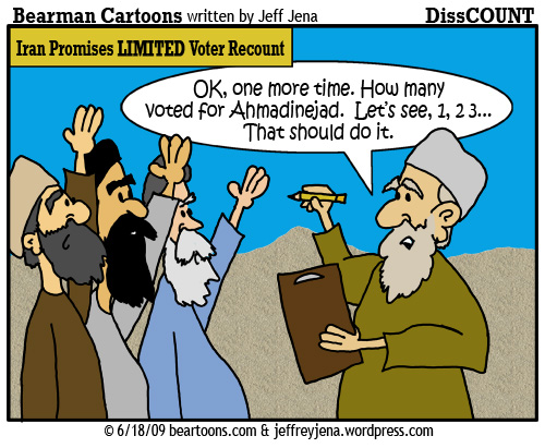 6 18 09 Bearman Cartoon Iran Voter Recount copy