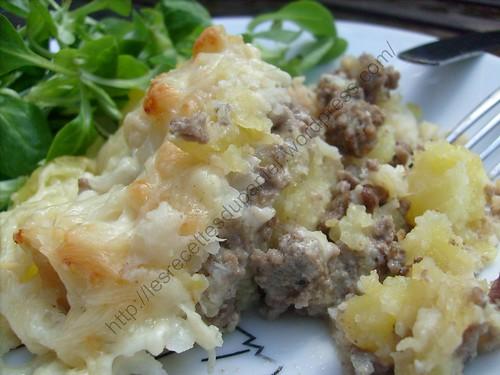 Parmentier de chou-fleur à la viande hâchée / Cauliflower and minced meat parmentier