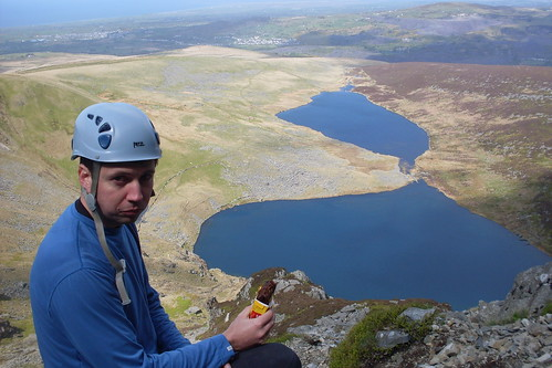 Peter takes on some fuel for the climb ahead