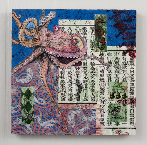 Mixed Media Collage - Octopus