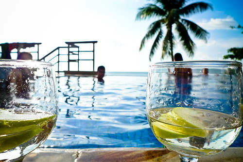 Martinis by the pool