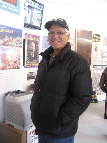 Gerry Menditto, Manager of the Cyclone, visits the History Project on the Coasters Opening Day 2009. Photo © Tricia Vita/Coney Island History Project via flickr