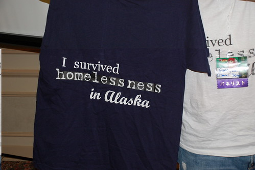 Picture of Shirt that says I Survived Homelessness in Alaska