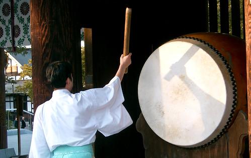 Tambor en el Hokkaido Jingu Shinto Shrine.