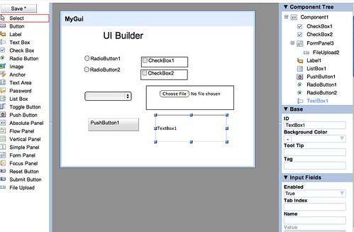 Google Apps UI builder
