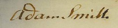 Adam Smith signature