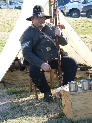 Living History Day - Soldier with Grass