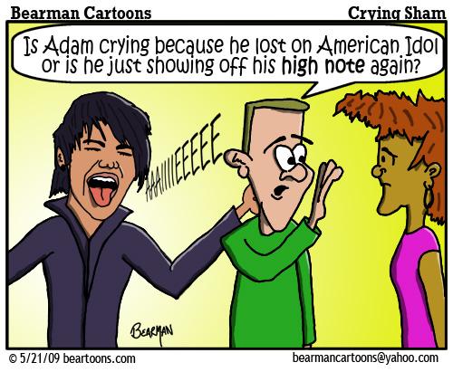 5 21 09 Bearman Cartoon Adam Lambert American Idol copy