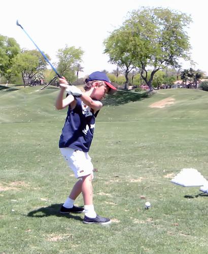 Caveboy Golfing