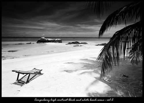 Hadouken · Firestarter · Compulsory high contrast black and white beach