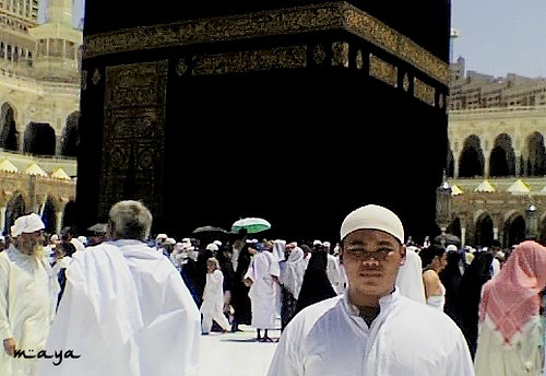 my beloved arif on Ka'bah