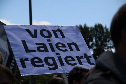 Eine von vielen heutigen Zensursula Demos (Foto: opyh von twitter bei Flickr)
