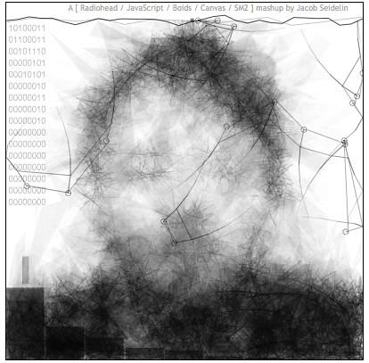 A [ Radiohead / JavaScript / Boids / Canvas / SM2 ] mashup by Jacob Seidelin