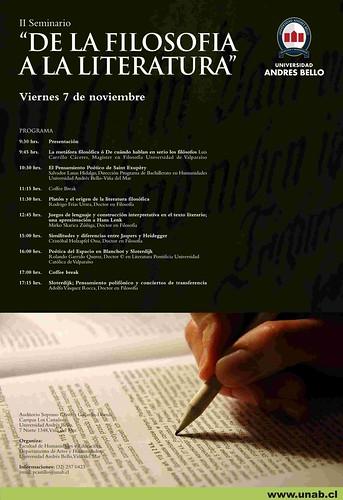 Seminario De la Filosofia a la Literatura UNAB por ti.