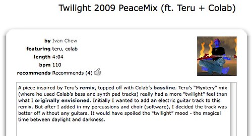 ccMixter - Twilight 2009 PeaceMix (ft. Teru + Colab)