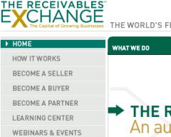 Receivables Exchange Web Site