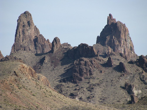 Mule Ears Peaks looms more rugged and forbidding than when we viewed it from Emory Peak