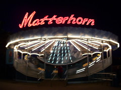 Cedar Point - Matterhorn at Night