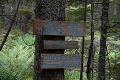 Trail Signs at Crockett Cove Woods