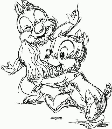Two cartoon squirrels