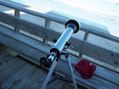 Telescope at the beach