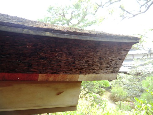Pressed Cypress Bark Roof