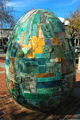 Egg, Digital DNA, City of Palo Alto, Art in Pu...