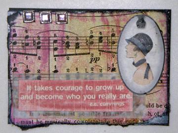 courage artist trading card (c) 2009, Lynne Medsker