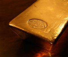 Fat gold bar end