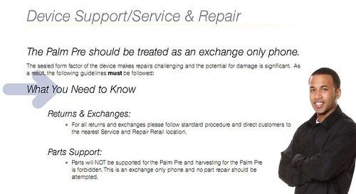 sprint leaks return and replacement policy on palm pre