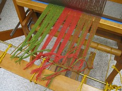 Getting ready for the weaving part