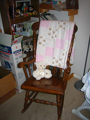 Jenny has already tested and approved this rocking chair.