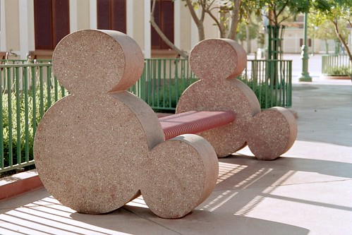 Mickey Mouse park bench