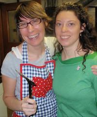 Jenni from Pattycake and Amy a breakfast organizer
